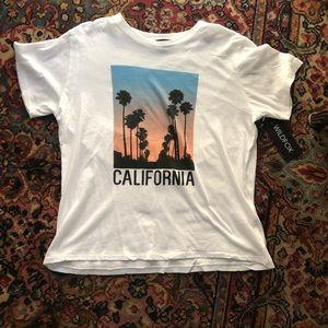 Wildfox graphic tee California sunset palm trees